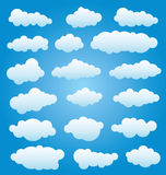 vector set of clouds Stock Photo