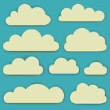 Vector set of clouds Stock Photography