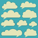 Vector set of clouds Royalty Free Stock Images