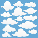 Vector set of clouds collection. Vector illustration EPS 10 Royalty Free Stock Image