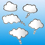 Vector set of clouds Stock Image