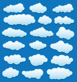 vector set of clouds in the sky Royalty Free Stock Photography