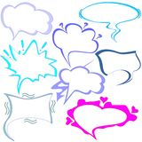 Vector set of clouds of thoughts and talking for Comics Royalty Free Stock Images
