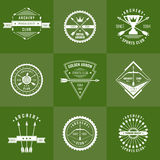 Vector Set for the club of archery vector illustration