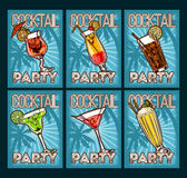 Vector set of cocktail glasses Royalty Free Stock Photos