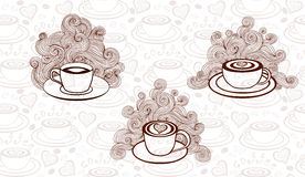 Vector set with coffee cups. Vector set of coffee cups Royalty Free Stock Images