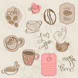 Vector set: Coffee design elements Royalty Free Stock Image