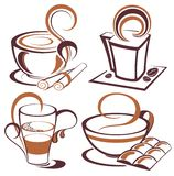 Vector set of coffee design elements Royalty Free Stock Photography