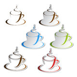 vector set of coffee stickers Stock Photo