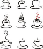 Vector set of coffee and tea cups Stock Photo