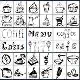 Vector set on a coffee theme. Royalty Free Stock Photos