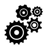 Vector set of cogs isolated on white Royalty Free Stock Photos