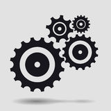 Vector set of cogs  on white Royalty Free Stock Images