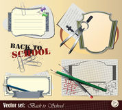 Vector set: Collection Back to School Royalty Free Stock Photography