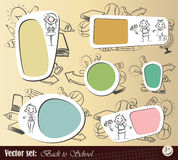 Vector set: Collection Back to School Stock Image