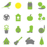 Vector set collection icons of color springs symbols Stock Photos