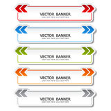 vector set of color banners with arrows Royalty Free Stock Photography