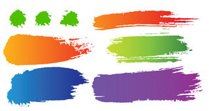 Vector set of color blots Stock Image