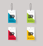 Vector set of color full price and sale tags design. แนืแำยะ royalty free illustration
