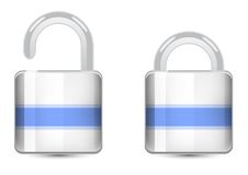 Vector set  color icons. Padlock icon Royalty Free Stock Photo