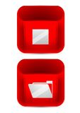 Vector set  color icons. Red icon Stock Image