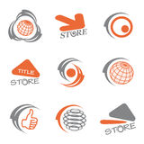 vector set of color logos stock illustration