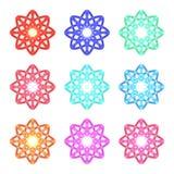 Vector set of color mandalas Stock Photo