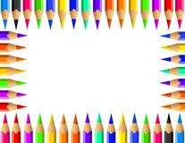 Vector set of Color pencils. Icon Royalty Free Stock Photo