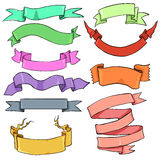 Vector Set of Color Ribbons Royalty Free Stock Images