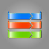 Vector set of color ribbons. Royalty Free Stock Images