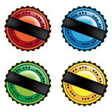 Vector set of color seals Stock Image