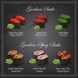 Vector set, color sketch, Gunkan Sushi Stock Photography