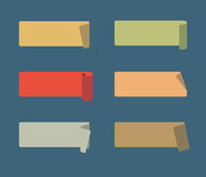 Vector Set of Colored Adhesive Scotch Royalty Free Stock Photos