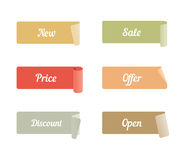 Vector Set of Colored Adhesive Scotch Tapes with Text Stock Photos