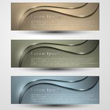Set of colored banners template with headline royalty free stock photography