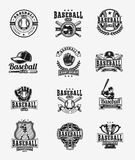 Vector set of colored baseball badges, stickers, emblems Stock Image