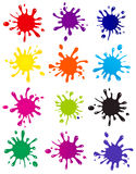 Vector set of colored blots Stock Image