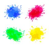 Vector set of colored blots on the white background royalty free illustration