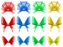 Vector set of colored decoration bows Stock Photo