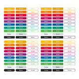 Vector set colored flat buttons. Color design Stock Photos