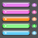 Vector set of colored glass buttons Royalty Free Stock Photography