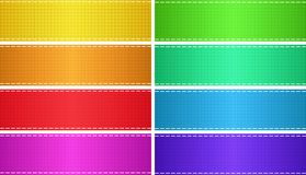 Vector set of colored glossy empty rectangular banners Royalty Free Stock Photo