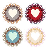 Vector set of colored hearts Stock Photos