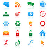 Vector set of colored icons. Set of vector colored icons for web design Royalty Free Stock Images