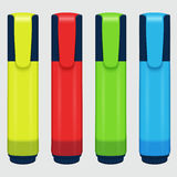 Vector set of colored markers on a white background Royalty Free Stock Image