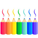 Vector set of colored pencils Royalty Free Stock Photo