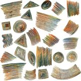 Vector set of colored pencils scribbles Stock Images
