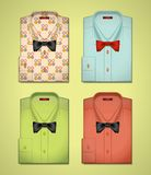 Vector set of colored shirts Royalty Free Stock Photo