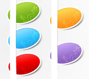 Vector set of colored stickers Royalty Free Stock Image
