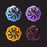 Vector set colorful arrows circle diagram Royalty Free Stock Image